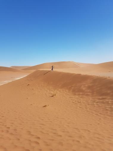 Conseguem me ver? Imensidão de areia.